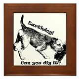 Cute Border terrier lover Framed Tile