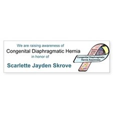 Scarlette Jayden Skrove CDH Awareness Ribbon Stick