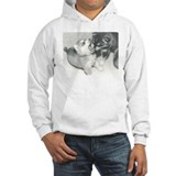Pups at play on hooded Sweatshirt