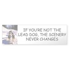 Lead Dog Bumper Bumper Sticker
