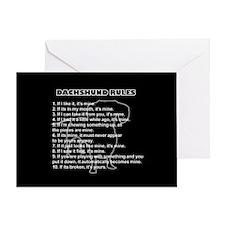 Dachshund Rules Greeting Card