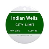 Indian Wells Ornament (Round)