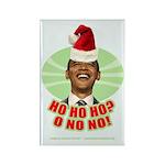 Ho Ho Ho? Obama No No No! Rectangle Magnet (10 pac