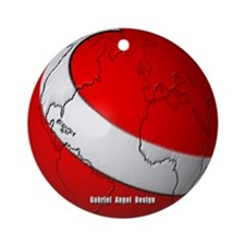 Scuba World Ornament (Round)