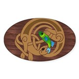 Oval Celtic Otter Decal
