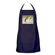 Jumping Doxie Apron (dark)