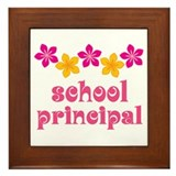 Floral School Principal Framed Tile