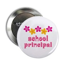 "Floral School Principal 2.25"" Button (10 pack)"