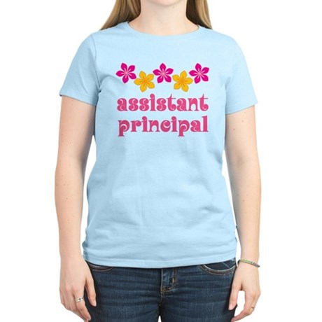 Floral School Principal Women's Light T-Shirt