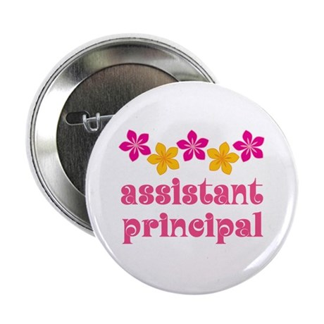 "Floral School Principal 2.25"" Button"