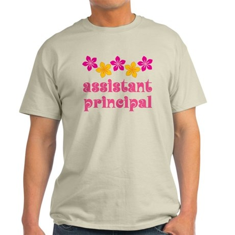 Floral School Principal Light T-Shirt