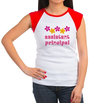 Floral School Principal Women's Cap Sleeve T-Shirt