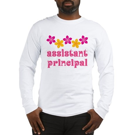 Floral School Principal Long Sleeve T-Shirt