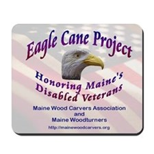 Maine Eagle Cane Mousepad