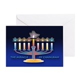 Chanukah Menorah Greeting Card