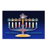 Chanukah Menorah Postcards (Package of 8)