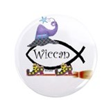 "Dar/Witch Fish 3.5"" Button"
