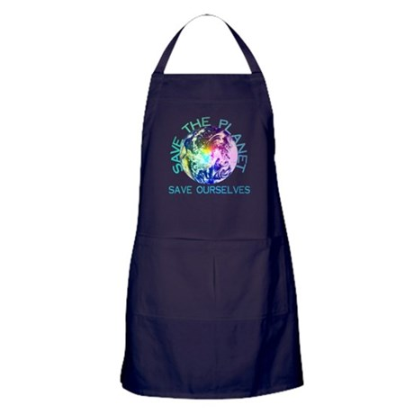 Save The Planet Apron (dark)