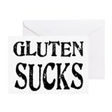 Gluten Sucks Greeting Card
