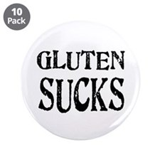 "Gluten Sucks 3.5"" Button (10 pack)"