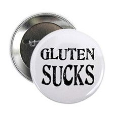 "Gluten Sucks 2.25"" Button (100 pack)"