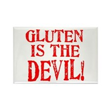 Gluten Is The Devil Rectangle Magnet