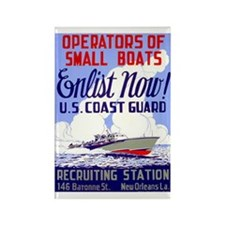 Enlist in the Coast Guard Rectangle Magnet