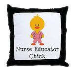 Nurse Educator Chick Throw Pillow