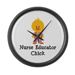 Nurse Educator Chick Large Wall Clock