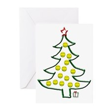 Softball tree Greeting Cards (Pk of 20)