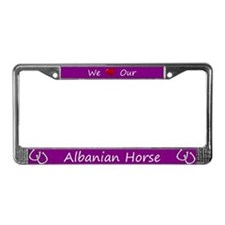 Purple We Love Our Albanian Horse Frame