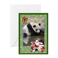 Giant Panda Bear Greeting Card