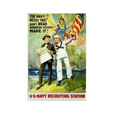 Navy Needs You Rectangle Magnet