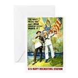The Navy Needs You! Greeting Cards (Pk of 10)
