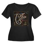 Coffee Mocha Women's Plus Size Scoop Neck Dark T-S