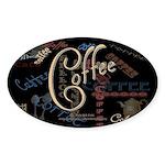 Coffee Mocha Oval Sticker