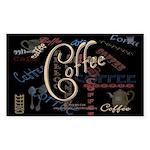 Coffee Mocha Rectangle Sticker