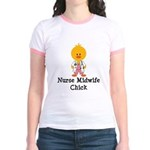 Nurse Midwife Chick Jr. Ringer T-Shirt