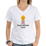Nurse Midwife Chick Women's V-Neck T-Shirt
