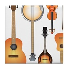 String Instruments Tile Coaster