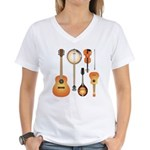 String Instruments Women's V-Neck T-Shirt