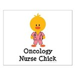 Oncology Nurse Chick Small Poster