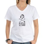 She is Fierce - Punk Women's V-Neck T-Shirt