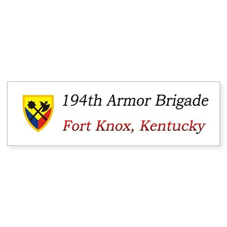 194th AR BDE Bumper Sticker