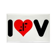 I Heart V Rectangle Magnet