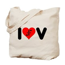 I Heart V Tote Bag