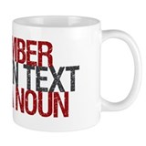 Text Txt Noun Coffee Mug