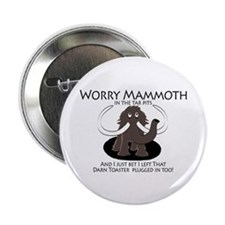 """Worry Mammoth 2.25"""" Button"""