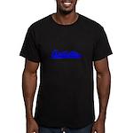 Softball Autistic Men's Fitted T-Shirt (dark)