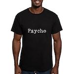 Psycho Men's Fitted T-Shirt (dark)